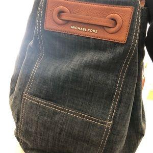 Michael Kors Bags - Michael Kors Denim Backpack Tote